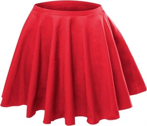 Czerwona spódniczka dziewczęca Rennwear z dzianiny