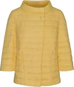 Żółta kurtka Lavard w stylu casual krótka
