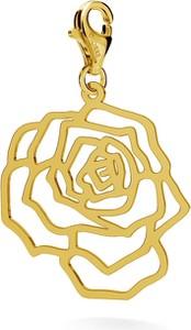 GIORRE SREBRNY CHARMS AŻUROWA RÓŻA 925 : Kolor pokrycia srebra - Pokrycie Żółtym 24K Złotem