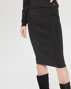 Ołówkowa mini spódnica Mohito Spódnice ołówkowe damskie czarne w Mohito
