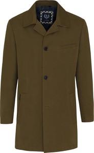 Zielony płaszcz męski Lavard z bawełny