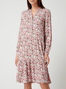 Sukienka Soyaconcept mini z długim rękawem z dekoltem w kształcie litery v