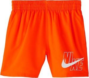 Pomarańczowe kąpielówki Nike Swim