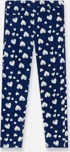 Niebieskie legginsy dziecięce Sinsay