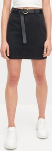Czarna spódnica Reserved mini z jeansu