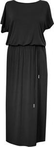 Sukienka Sklep XL-ka z okrągłym dekoltem z krótkim rękawem