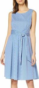 Sukienka amazon.de bez rękawów rozkloszowana z okrągłym dekoltem