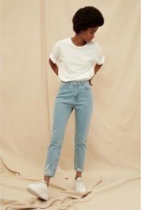 Niebieskie jeansy Trendyol z bawełny w stylu casual
