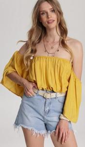 Żółta bluzka Renee z długim rękawem