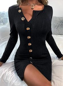 Sukienka Sandbella z długim rękawem mini z dresówki