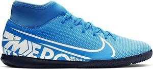 Niebieskie buty sportowe Nike sznurowane mercurial