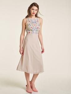 Sukienka Heine z okrągłym dekoltem bez rękawów