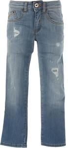 Błękitne jeansy dziecięce Emporio Armani z jeansu