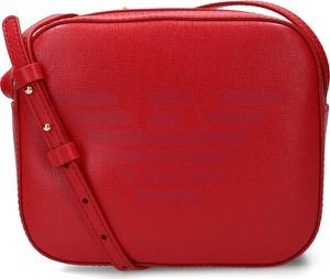 Czerwona torebka Emporio Armani na ramię ze skóry