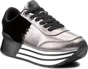 Srebrne buty sportowe Calvin Klein sznurowane