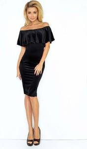 Czarna sukienka Coco Style bodycon z krótkim rękawem