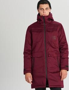 Czerwony płaszcz męski Cropp w młodzieżowym stylu