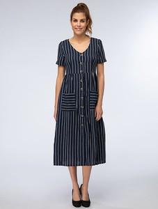 Sukienka My Summer Closet midi z krótkim rękawem z bawełny