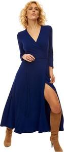 Sukienka RISK made in warsaw z dekoltem w kształcie litery v maxi