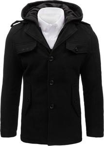 Czarny płaszcz męski Dstreet