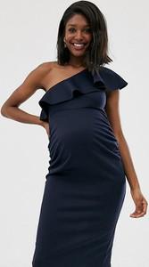 Granatowa sukienka True Violet Maternity dopasowana