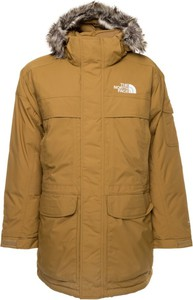 Brązowa kurtka The North Face w stylu casual