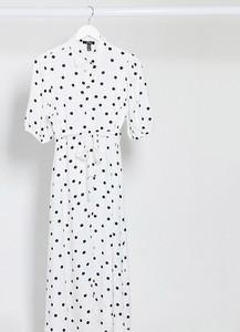 New Look Maternity – Dwukolorowa szmizjerka w grochy z paskiem-Wielokolorowy