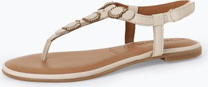 Czarne sandały Tamaris ze skóry w stylu casual z klamrami