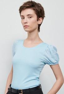 Bluzka Reserved z okrągłym dekoltem z krótkim rękawem w stylu casual