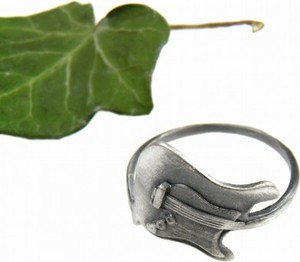 Venus Galeria Gitara elektryczna pierścionek srebrny