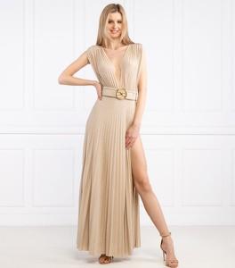 Sukienka Elisabetta Franchi maxi z dekoltem w kształcie litery v