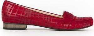 Baleriny Zapato z płaską podeszwą z nubuku