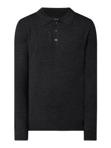 Czarny sweter Christian Berg z wełny w stylu casual ze stójką