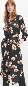 Sukienka Reserved szmizjerka maxi z długim rękawem