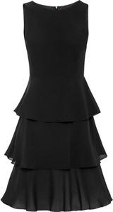 Czarna sukienka bonprix bez rękawów
