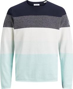 Sweter Jack & Jones z bawełny w stylu casual z okrągłym dekoltem