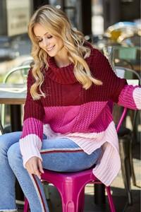 Różowy sweter Nunu