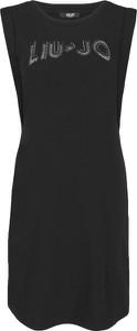 Czarna sukienka Liu-Jo prosta z okrągłym dekoltem bez rękawów