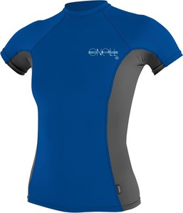 Niebieska bluzka Maravilla Boutique z krótkim rękawem