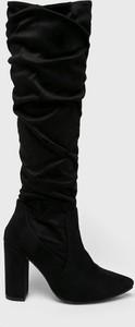 Czarne kozaki Answear na zamek przed kolano