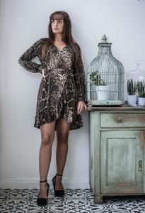 Sukienka Olivkabutik.pl mini w stylu casual z długim rękawem
