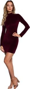 Brązowa sukienka MOE z bawełny mini