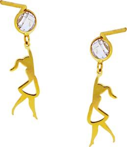 f7705bde46144 złote kolczyki wkrętki z cyrkonią - stylowo i modnie z Allani