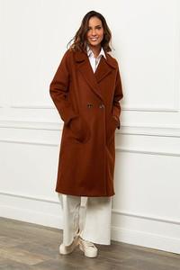 Brązowy płaszcz Le Comptoir Du Manteau