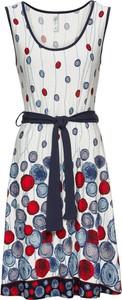 Sukienka bonprix RAINBOW z okrągłym dekoltem midi