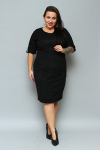 Sukienka KARKO midi ołówkowa z długim rękawem
