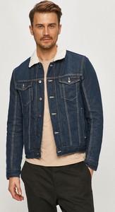 Granatowa kurtka Tom Tailor z jeansu krótka