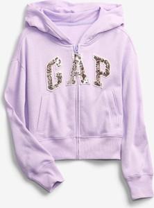 Fioletowa bluza dziecięca Gap z bawełny dla chłopców