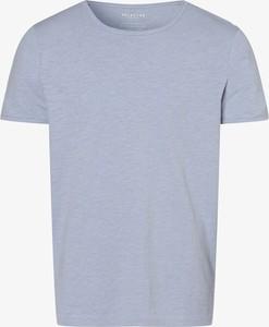 Niebieski t-shirt Selected w stylu casual z krótkim rękawem