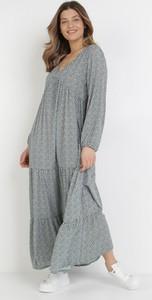Sukienka born2be z dekoltem w kształcie litery v maxi w stylu casual